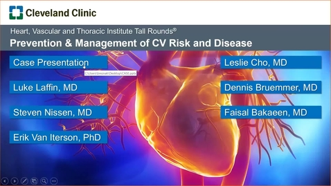 Thumbnail for entry Prevention & Management of Cardiovascular Risk and Disease