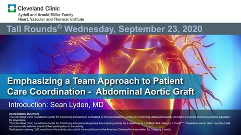 Thumbnail for entry Emphasizing a Team Approach to Patient Care Coordination – Abdominal Aortic Graft Infection