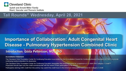 Thumbnail for entry Importance of Collaboration: Adult Congenital Heart Disease - Pulmonary Hypertension Combined Clinic