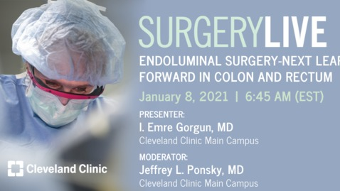 Thumbnail for entry Endoluminal Surgery - Next Leap Forward in Colon and Rectum