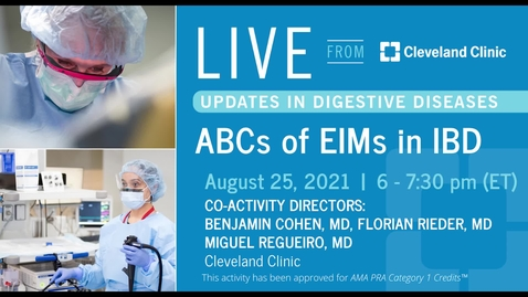 Thumbnail for entry ABCs of EIMs in IBD