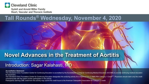 Thumbnail for entry Novel Advances in the Treatment of Aortitis