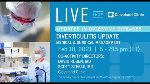 Thumbnail for entry Diverticulitis Update
