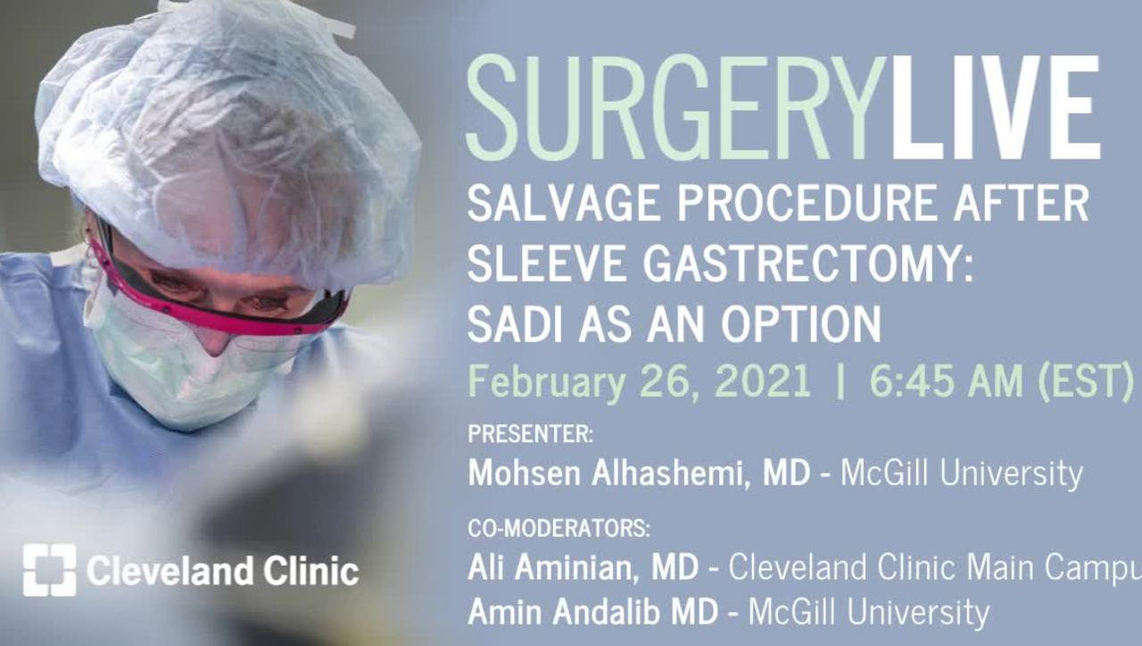 Salvage Procedure After Sleeve Gastrectomy: SADI As An Option