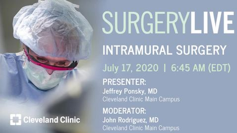 Thumbnail for entry Intramural Surgery