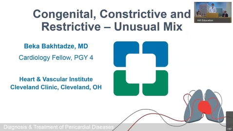 Thumbnail for entry Pericardial Cases | Congenital Constrictive and Restrictive Disease: Unusual Mix