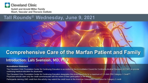 Thumbnail for entry Comprehensive Care of the Marfan Patient and Family