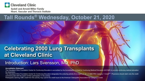 Thumbnail for entry Celebrating 2000 Lung Transplants at the Cleveland Clinic