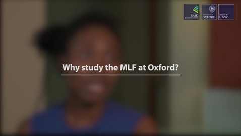 Thumbnail for entry Why the MLF at Oxford? (University of Oxford)