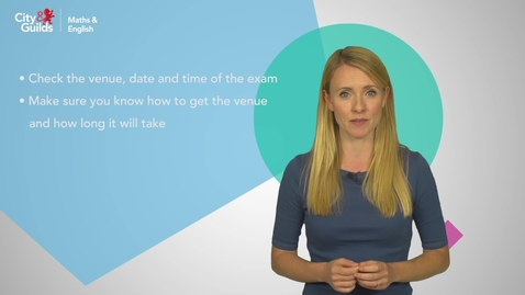 Thumbnail for entry Learning Video: Exam Preparation (City&Guilds)