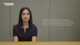 Thumbnail for entry Basis Clauses -  Finance Litigation Video Series (Stephenson Harwood)