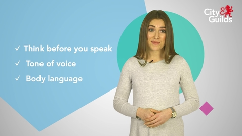 Thumbnail for entry Learning Video: Speaking and Listening (City&Guilds)