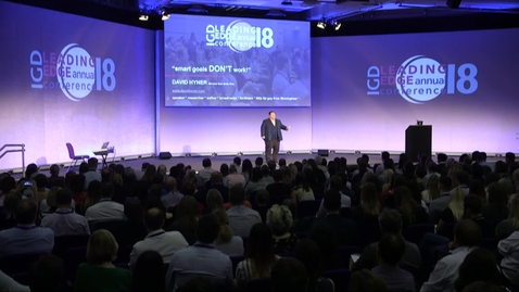 Thumbnail for entry David Hyner Speech at Live IGD Conference (IGD)