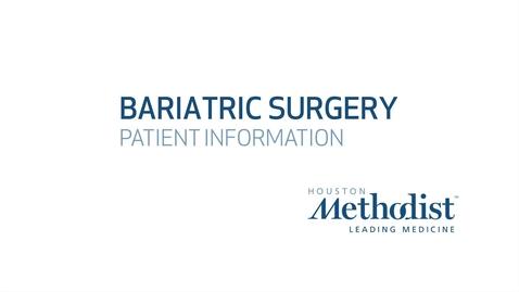 Bariatric Orientation - Nabil Tariq, MD FACS