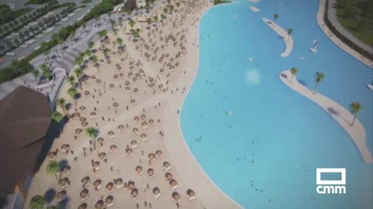 La playa artificial de Alovera suscita dudas: ¿de dónde obtendrán el agua?