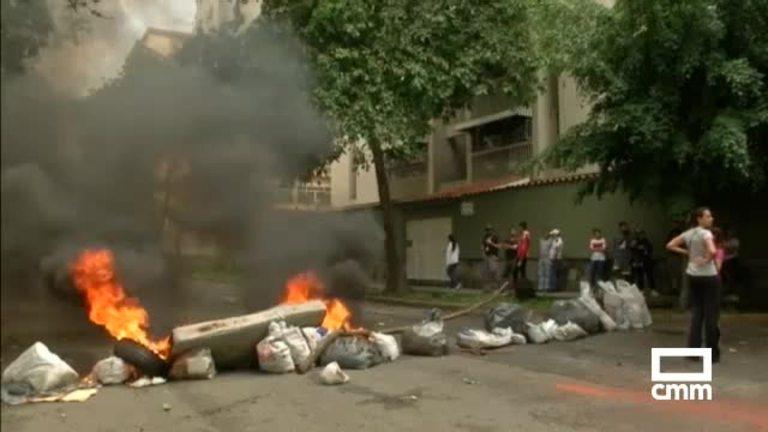 Disturbios en la jornada de huelga general en Venezuela