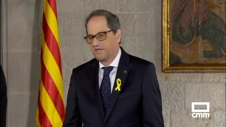 Quim Torra toma posesión como presidente sin representantes del Gobierno