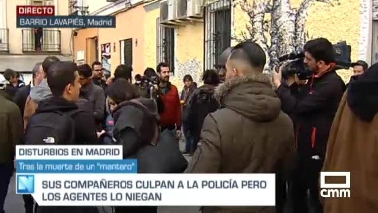 Nuevos disturbios en Lavapiés tras la muerte del