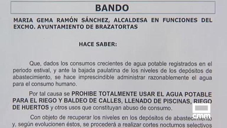 Cortes en el suministro de agua en el municipio de Brazatortas