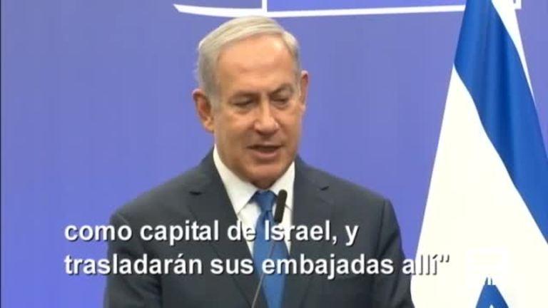 Netanyahu dice que la UE terminará reconociendo Jerusalén como capital israelí