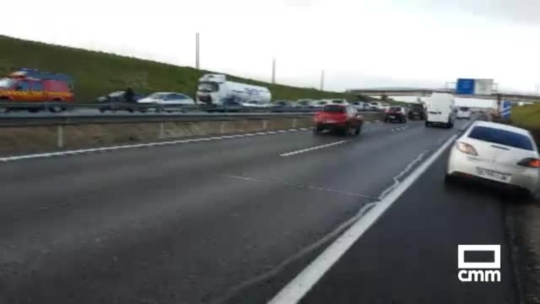 Accidente A-42: colisión entre autobús con 50 pasajeros, 4 turismos y 1 furgoneta