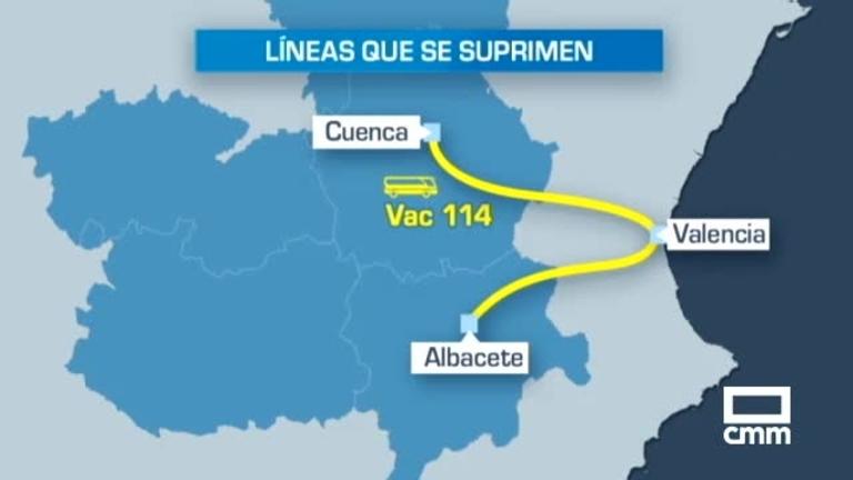 55 municipios de C-LM, afectados por la supresión de varias líneas de autobuses