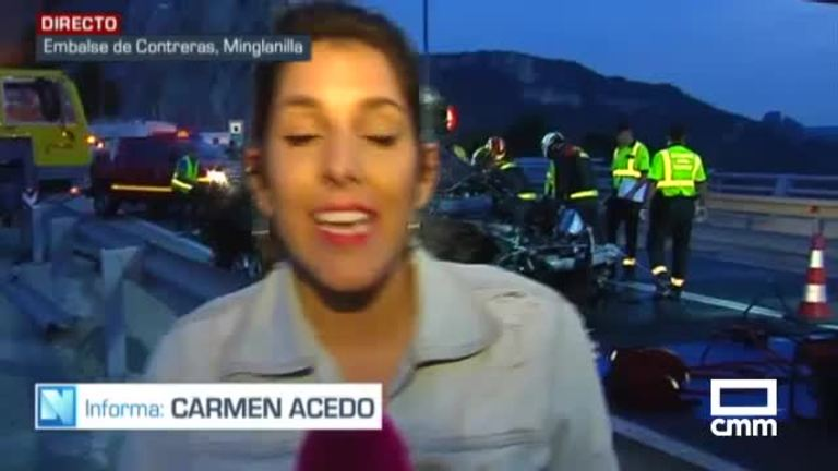 Cae un vehículo al pantano de Contreras en Cuenca