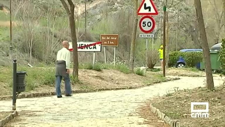 Un desprendimiento provoca el cierre del paseo fluvial del Júcar en Cuenca