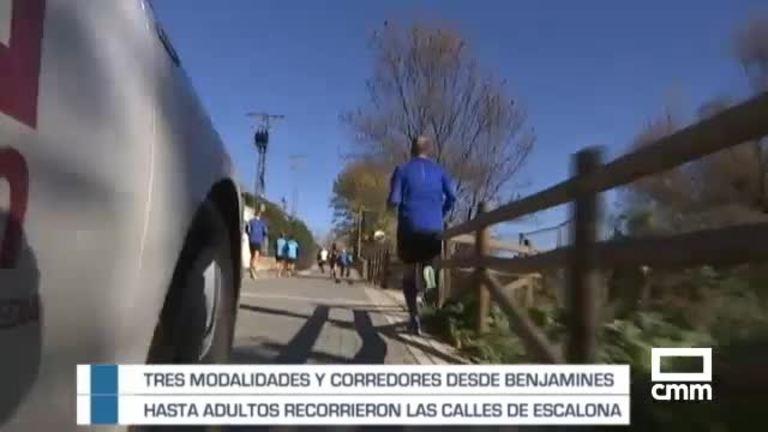 Corredores desde benjamines hasta adultos recorren las calles de Escalona