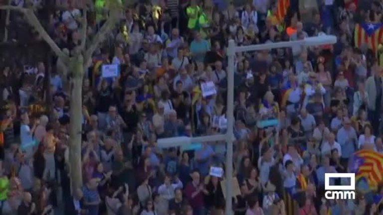 Reacciones al 155: la manifestación por la libertad de