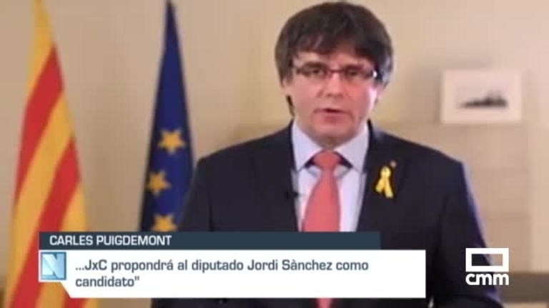 Puigdemont renuncia a su investidura y propone a Jordi Sànchez