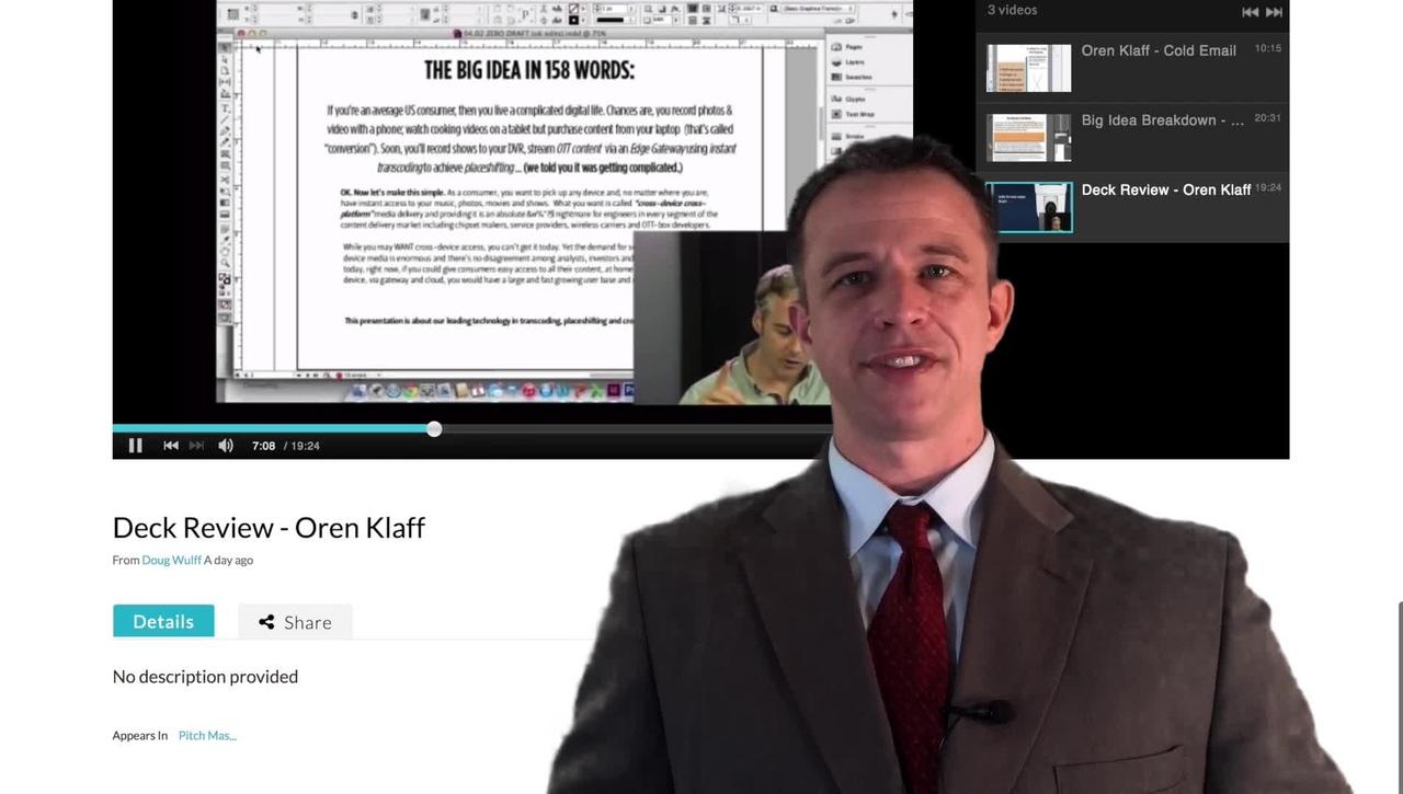 Podcast Video Review - Oren Klaff
