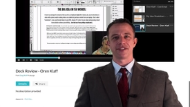 Thumbnail for entry Podcast Video Review - Oren Klaff