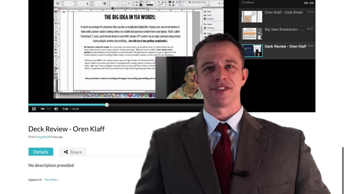 Podcast Video Review - Oren Klaff
