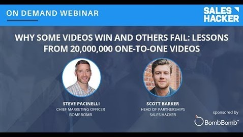 Thumbnail for entry Why Some Videos Win and Others Fail:  Lessons from 20,000,000 One-to-One Videos