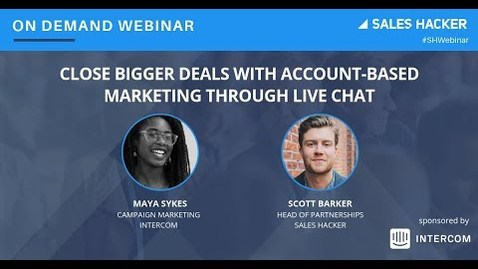 Thumbnail for entry Close Bigger Deals with Account-Based Marketing through Live Chat