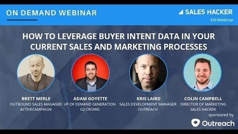Thumbnail for entry How to Leverage Buyer Intent Data in your Current Sales and Marketing Processes