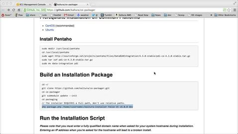 Thumbnail for entry  Kaltura CE Package and Install on Amazon EC2 - Part 2 - Packaging Source and Installation