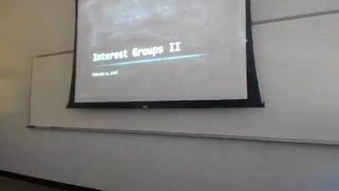 Interest Groups III: Professor Tannahill's Lecture of February 11, 2016