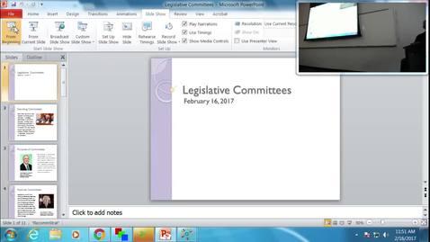 Legislative Committees: Professor Tannahill's Lecture of February 16, 2017