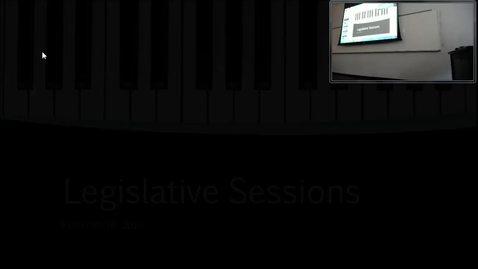 Legislative Sessions: Professor Tannahill's Lecture of February 16, 2017