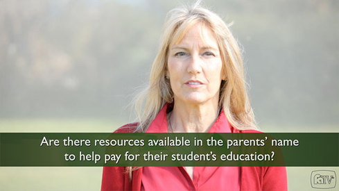 Are there resources available in the parents name to help pay for their student's education?