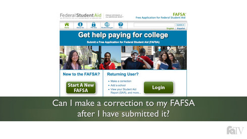 2017-2018: Can I make a correction to my FAFSA after I have submitted it?