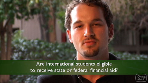 Are international students eligible to receive state or federal financial aid?