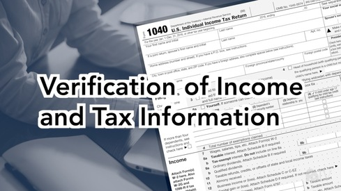 Verification of Income and Tax Information