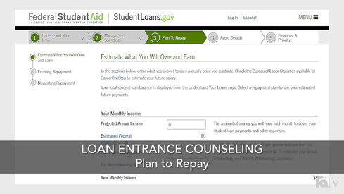 Loan Entrance Counseling - Plan to Repay