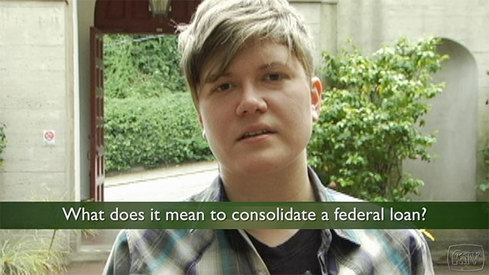 What does it mean to consolidate a federal loan?