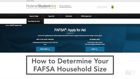 How to Determine Your FAFSA Household Size