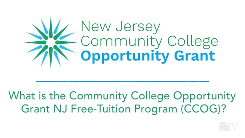 What is the Community College Opportunity Grant NJ Free-Tuition Program (CCOG)?