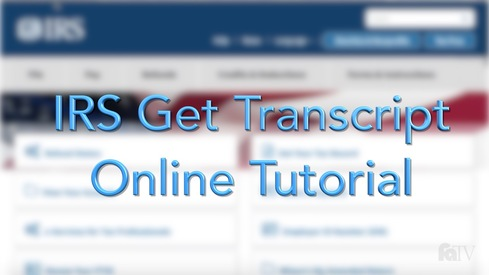 IRS Get Transcript Online Tutorial
